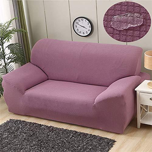 Funda de sofá elástica de terciopelo para sofá de 1 2 3 fundas de cojín lavables y duraderas fundas de sofá de toalla impermeable para niños, perros y mascotas