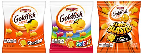 Pepperidge Farm Goldfish Variety Pack Crackers, 37.6 Ounce Snack Packs, 40 Count Box