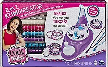 Cool Maker 2-in-1 KumiKreator Necklace and Friendship Bracelet Maker Activity Kit for Girls Ages 8 and Up