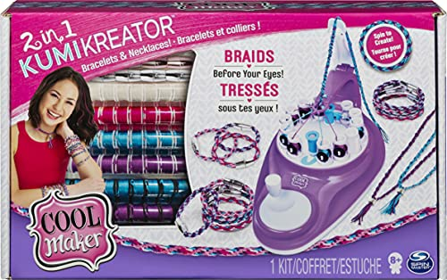 Cool Maker, 2-in-1 KumiKreator, Necklace and Friendship Bracelet Maker Activity Kit, for Girls Ages 8 and Up