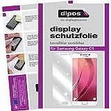 dipos–Protector de pantalla compatible con Samsung Galaxy C5(2unidades, transparentes)