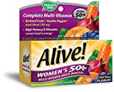 Alive! Women's 50+ High Potency Multi-Vitamin with Orchard Fruits & Garden Veggies, 50 Tablets