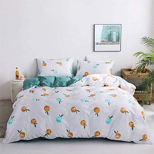 DPJ Juego de ropa de cama de 4 piezas con estampado de leopardo, tejido de microfibra, funda nórdica, sábana encimera y funda de almohada, D 200 x 230 cm