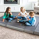 LUCID 4 Inch Folding Sofa and Play Mat - Comfortable and Durable Foam - Washable Cover - Twin #4
