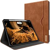 Hülle für iPad Pro 12.9 2020und2018 mit Stifthalter Folio Leder Standfuß Smart Cover mit Pocket Auto Sleep/Wake Support 2. Gen iPad Stift Kabelloses Aufladen