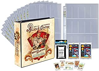 Topps Allen and Ginter Series Limited Edition 2014 Trading Card Gift Set Including an Official Topps Collectors Binder Made by Ultra Pro, Pages, Magnetic Holders and Exclusive Tobacco Cards