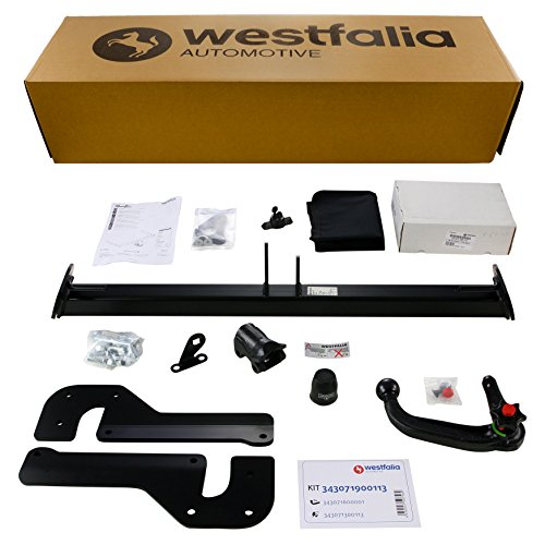 Westfalia Abnehmbare Anhängerkupplung - AHK für Mazda 6 Kombi (ab BJ 02/13) im Set mit 13-poligem fahrzeugspezifischen Elektrosatz