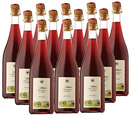 Prisecco alkoholfrei rotfruchtig- Manufaktur Jörg Geiger - 0,75 l - 12er Paket