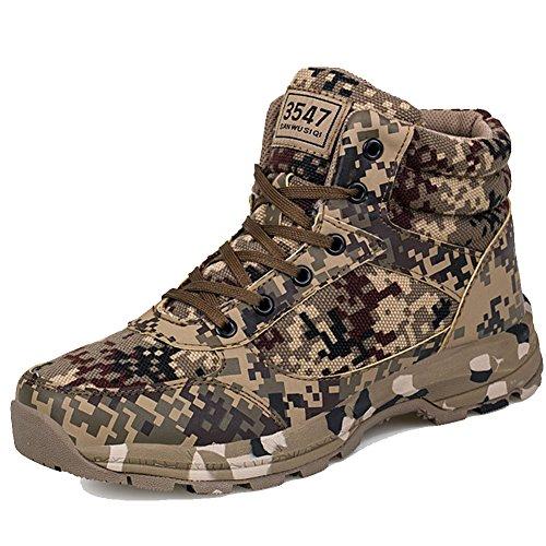 FashionYoung, Stivali Uomo, Motivo Militare (Camouflage), 42.5