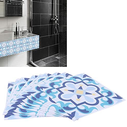 SALALIS Adhesivo Impermeable para Azulejos, Material de PVC de Tacto cómodo, Pasta de Pared de Azulejos de cerámica para Comedor para Cocina(BS104)