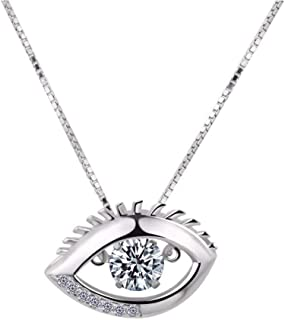 VWMYQ Rayang 925 Sterling Silver Evil Eye Necklace for Women for Girl Evil Eye Charm Pendant Evil Eye Jewelry