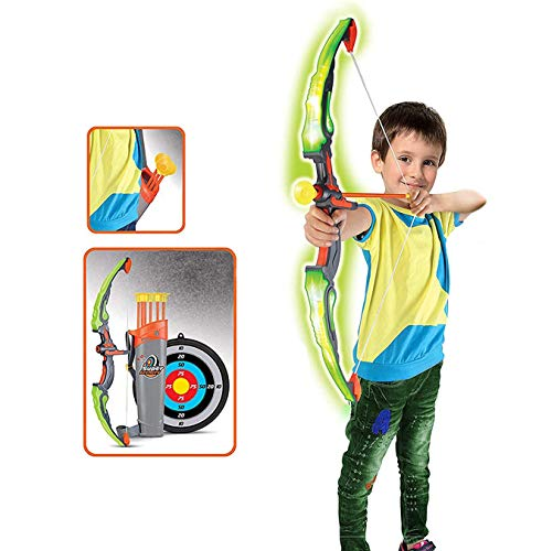 RCTOYS Bow and Arrow Archery Set - Comes with Attractive LED Lights Materials - Great for Indoor-Outdoor Game - Perfect for Gifting Purpose - Recommended Age 3 Years and Up Best Gift for Children