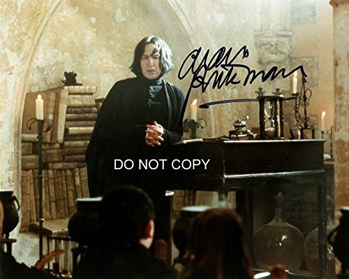 Alan Rickman signed autographed reprint photo as Professor Snape from Harry Potter #2 RP