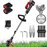 TIANMIAOTIAN 7.5ah Cordless Weed Trimmers 1680w Stringless TrimmerBattery Powered Lawn Edgers Electric Adjustable for Garden,farmland Cut Grass MachineEdger Lawn Tool