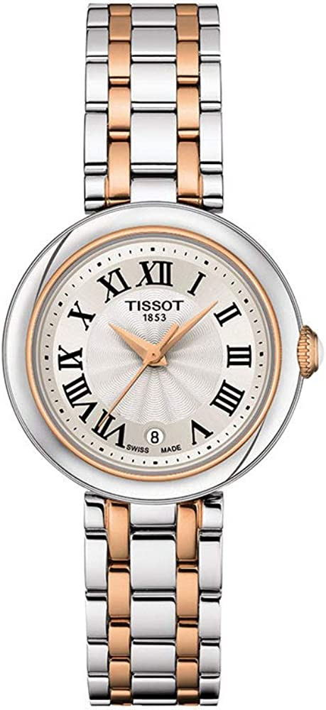 Tissot womens excellence Bellissima 316L stainless Atlanta Mall gol steel with case rose