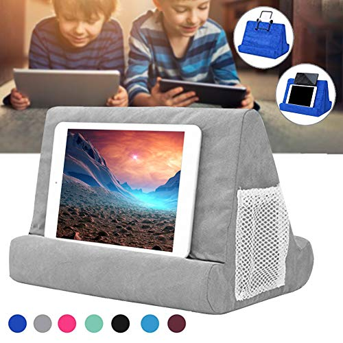 Soft Pillow for ipads, Yoruii Multi-angle Phone Pillow Lap Stand, Universal ipad Tablet Reading Stand Pillow Holder for ipads, Tablets, EReaders, Smartphones, Books, Magazine