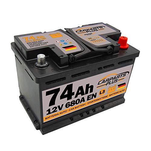 CARPARTS PLUS L374CARPARTS Batteria 74ah 680A 12V Polo DX