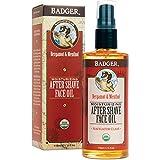 Badger - After-Shave Face Oil, Bergamot & Menthol, Moisturizing Aftershave Oil, Natural After Shave Face Oil for Men, 4 fl oz Glass Bottle