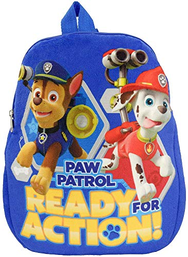 Paw Patrol pluche Ready for Action kinderrugzak, polyester 32,5 x 27 x 4 cm, blauw