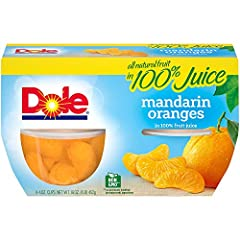 ALL NATURAL FRUIT: Enjoy the refreshing taste of all natural mandarin oranges in 100% real fruit juice. DOLE FRUIT BOWLS are made with the best fruit nature has to offer. With so many varieties it's easy to get sunshine in every bowl. NATURALLY GLUTE...