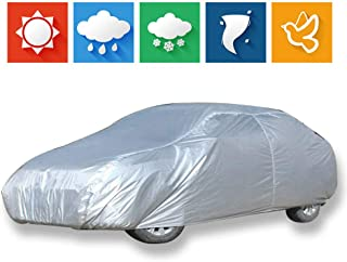 cciyu Car Cover 100% Waterproof Outdoor Auto Cover All Weather Windproof Snow-Proof Dust-Proof Scratch Resistant UV Protection fit Full Car Cover Length Up to 228