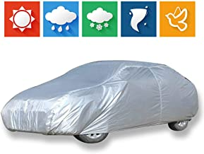 cciyu Car Cover 100% Waterproof Outdoor Auto Cover All Weather Windproof Snow-Proof Dust-Proof Scratch Resistant UV Protection fit Full Car Cover Length Up to 210