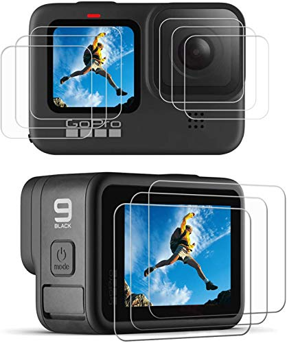 Action Pro [9H Hardness][HD Clear][Anti-Scratch][High Definition] Front & Back Screen Protector Compatible with GoPro Hero 9 (Pack of 9)