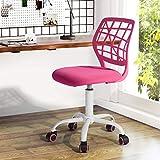 Silla de escritorio Fanilife, ajustable y giratoria sin brazos de diseo, para nios, silla para el...