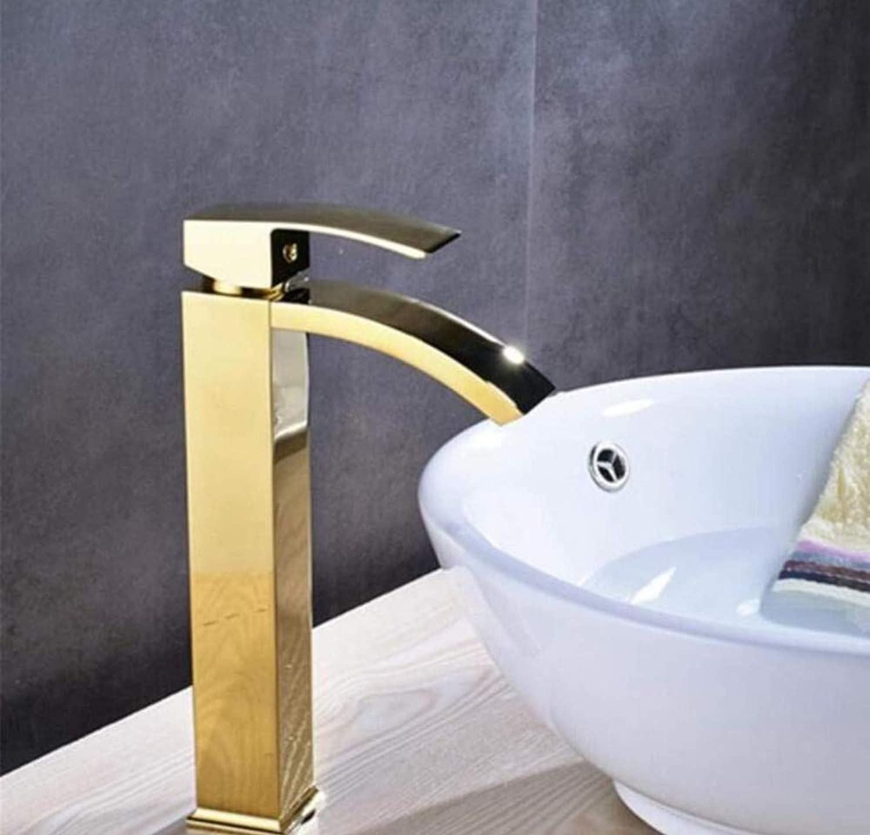 Messing Wandhahn Chrom Messinghahncountertop-Badezimmer-Quadratisches Waschbecken-Wannen-Mischer-Hahn