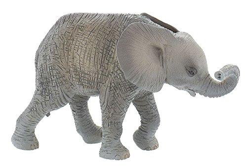 Bullyland 63659 - Spielfigur, Afrikanisches Elefantenkalb, ca. 9,5 cm groß, liebevoll handbemalte Figur, PVC-frei, tolles Geschenk für Jungen und Mädchen zum fantasievollen Spielen