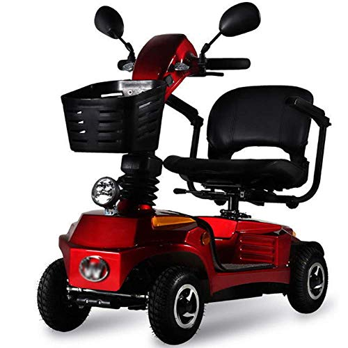 HIGHKAS Faltbarer Reisetransport Mobiler Roller - leicht, tragbar, leicht zu verstauen, manuell faltbar - leicht zu bewegen, mobiler 4-Rad-Roller für Erwachsene Klappbarer Leichter Rollstuhl Leichte