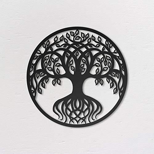 Northshire Metal Wall Art, Tree of Life, Schwarz Metall Wand Deko, Bilder für Wohnzimmer, Wand Deko Kinderzimmer und Küche, Wanddekorationen für das Schlafzimmer