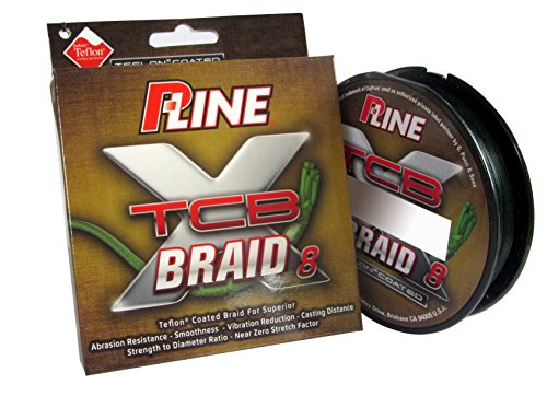 P-Line TCB 8 Carrier 150-Yard Braided Fishing Line, Green, 50-Pound