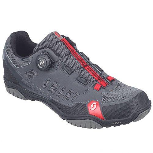 Scott MTB-radschuh Crus-r Boa, Zapatillas de Ciclismo de montaña para Hombre, Gris (Anthrazit/Rot 1048), 45 EU