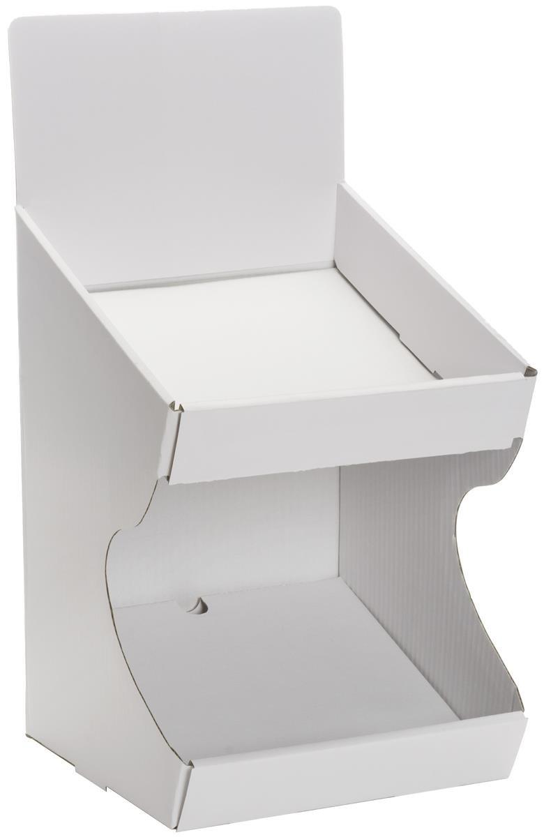 Displays2go TBBIN2WT Store Max 86% OFF Countertop Display Chicago Mall Dump Bin White S