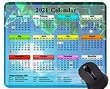 Yanteng Calendario Galaxy 2021 con Alfombrillas para Mouse de días Festivos, Alfombrilla de Mouse con temática de Cielo Azul Oscuro