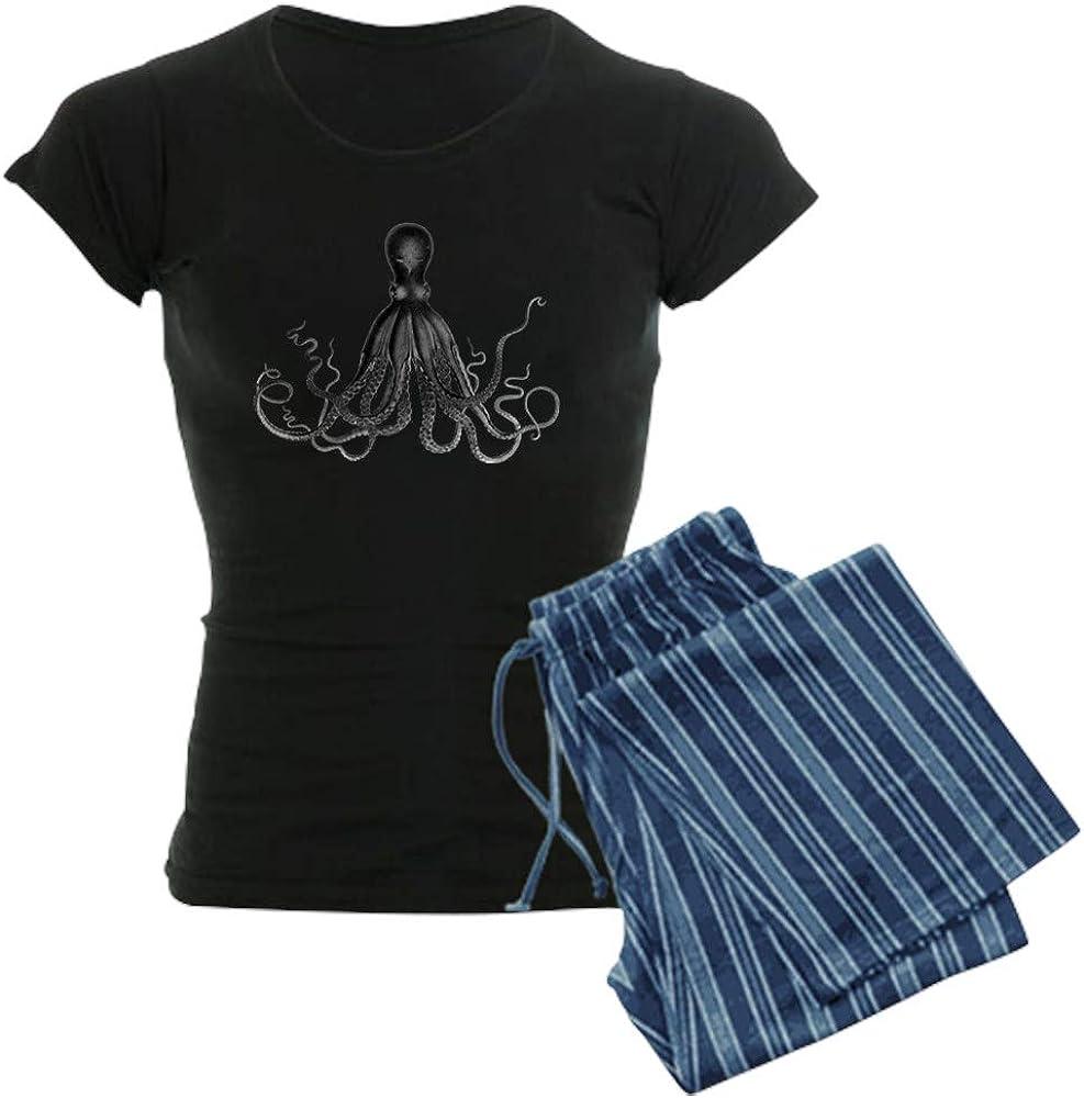 人気海外一番 CafePress Vintage Octopus Pajamas Women's AL完売しました。 PJs