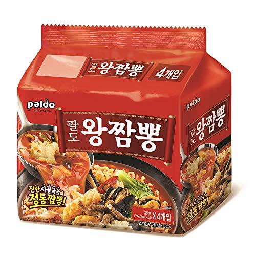 パルド ワンチャンポン 4袋セット | ジンチャンポン マッチャンポン と並ぶ 韓国 3大チャンポン麺のひとつ | 韓国 ちゃんぽん インスタント 乾麺 韓国食品 韓国ラーメン | 国内正規品