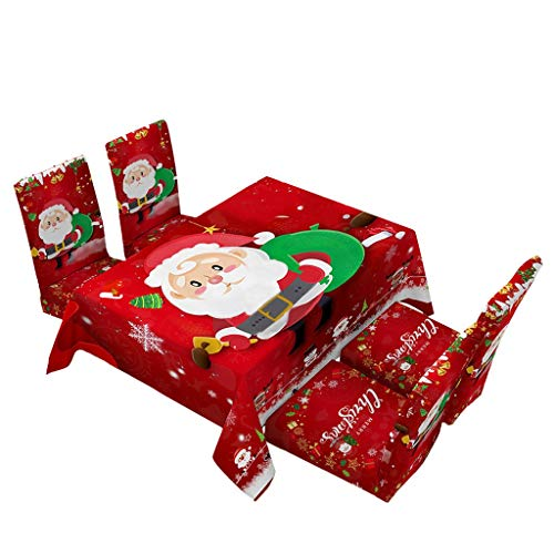 Christmas Tablecloth Print Rectangle Table Cover Set Holiday Party Home Decor Home & Garden Kitchen,Dining & Bar