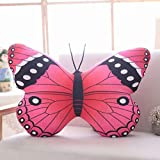 NACOLA 3D Lifelike Butterfly Pillow Cushion Soft Short Plush Stuffed Toy Home Bed Living Room Car Chair Decoration Children Gift