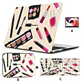 """MacBook Air Computer Case Cosmetics Make Up Products Set Laptop Cover Hard Shell Mac Air 11""""/13"""" Pro 13""""/15""""/16"""" with Notebook Sleeve Bag for MacBook 2008-2020 Version"""
