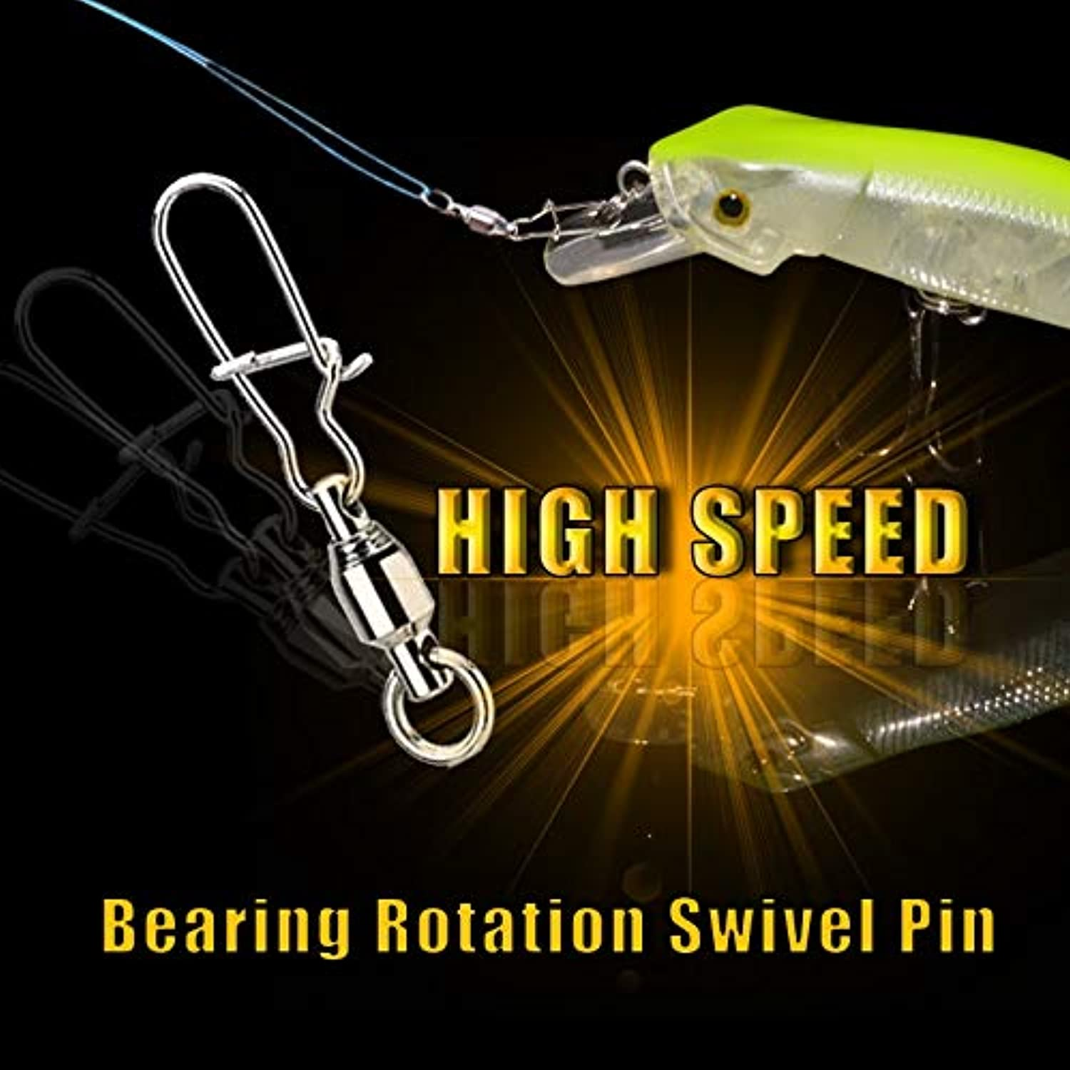 CUSHY 10pcs lot Stainless Steel HighSpeed redation pin Lure Swivel Enhanced pin  0  1  2  3  4  5  6  7  8  9  10 Fishing Accessories  10