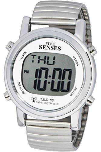 TimeChant Atomic! Talking Watch - Sets Itself Senses Metal Easy-to-Read Talking Watch (1021)