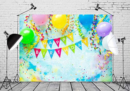 YEELE Happy 1st Birthday Backdrop 10x8ft Paper Flowers Interior Photography Background First Birthday Boys Girls Room Decoration Cake Smash Party Table Photobooth Props Digital Wallpaper
