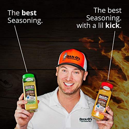 Spicy Dan-O's Original Seasoning - All Natural, Low Sodium, No Sugar, No MSG (3.5 oz)