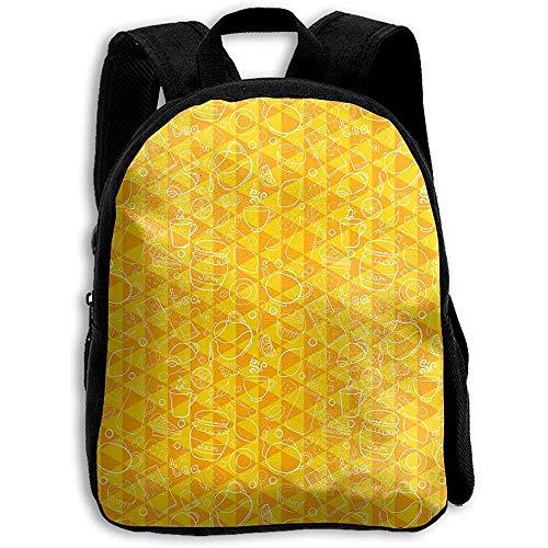 Daypacks,Karikatur-Honig-Zitronen-Tee-Keks-Rucksack, Bookbag-Mode-Rucksäcke Für Die Reise Im Freien Sportlich