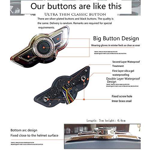 Leaf&Y Modularer Bluetooth-Smart-Motorradhelm, Anti-Fog-Doppelvisier-Klapphelm, Offroad-Motorrad-Roller-Rennhelm mit automatischer Rufannahme/Musik,L - 2
