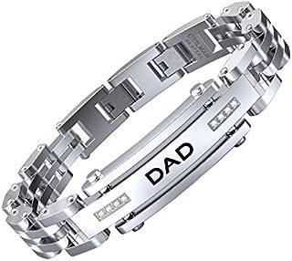 COOLMAN Men Bracelet Stainless Steel with Adjustable...