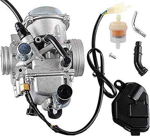 TRX350 Carburetor for 350 Rancher 2000-2006 FE/FM/TE/TM/ES Atv 4 Stroke Carburetor with Black...