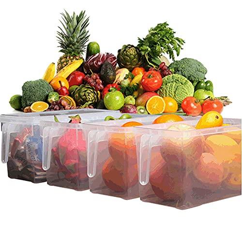 YXXHM- Caja Almacenamiento para Frigorífico Comida Mascotas Recipientes Alimentos Tapas Herméticas Tanques Frigoríficos Organizadores Cajones - Caja del Refrigerador Mantenga 4.7L